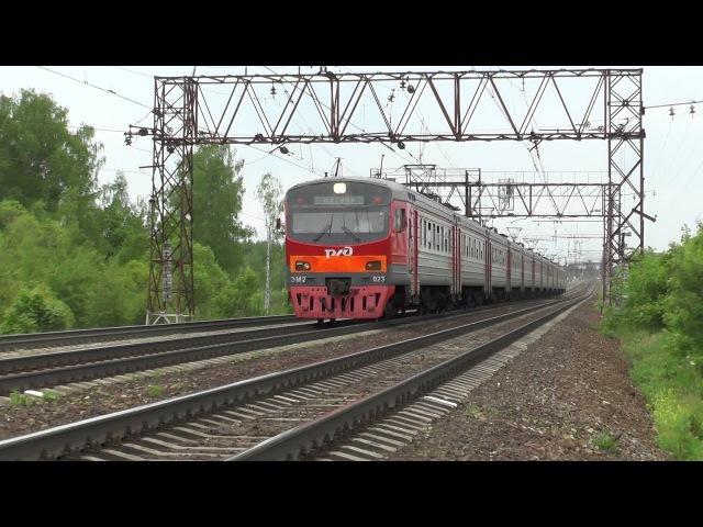 Электропоезд ЭМ2 023 перегон Михнево Барыбино