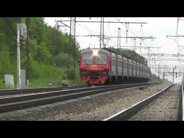 Электропоезд ЭД4М 0318 перегон Барыбино Михнево