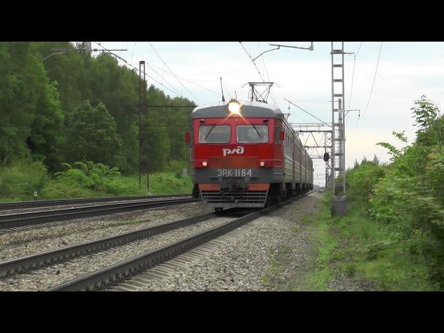 Электропоезд ЭР2К 1184 перегон Барыбино Михнево