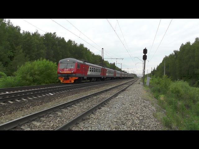 Электропоезд ЭД4М 0429 перегон Барыбино Михнево
