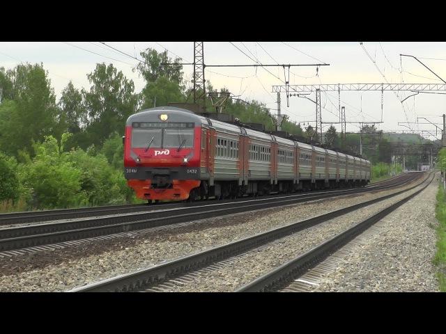 Электропоезд ЭД4М 0432 перегон Барыбино Михнево