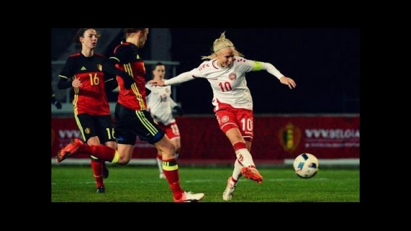 Pernille Harder Vs Belgium Friendly ⊕ 2016 Brace