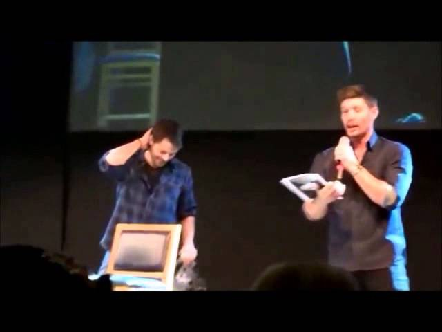 Jensen Ackles and Misha Collins from Supernatural Dancing