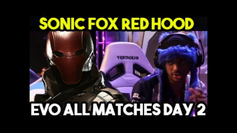 Sonic Fox All Red Hood Matches Injustice 2 Day 2 Evo 2017