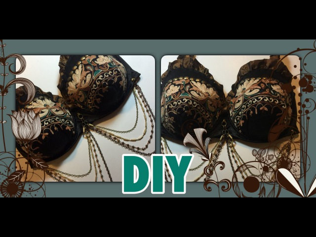 Tribal Belly Dance Bra out of Repurposed Items - Watch Me Make It!