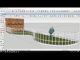 массивы по кривым с JHS PowerBar плагином для Sketchup