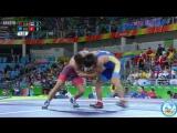 РИО-2016 греко-римская борьба 59 кг 1_8 финала Исмаэль Борреро (Куба) - Арсен Эралиев (Киргизия)