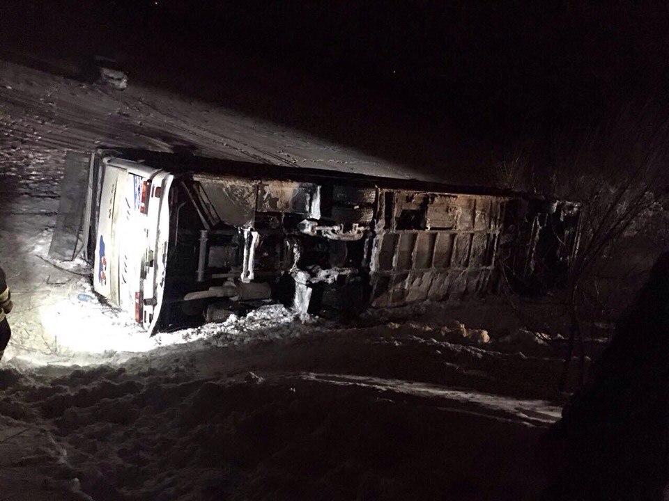 ВДнепровском районе маршрутка столкнулась с грузовым автомобилем