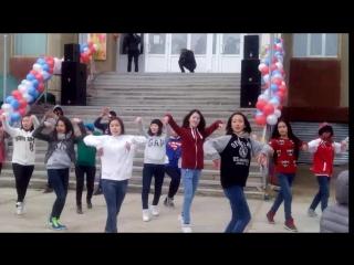 Танцевальный флешмоб 1 мая 2014 года. г. Покровск. Якутия