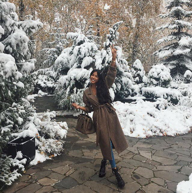 елочки и снег