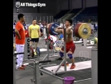 Tian Tao (85kg) Front Squatting 245kg / 540 lbs for a Double!