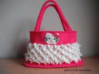 Вязаная крючком сумочка Hello Kitty мастер класс видео урок
