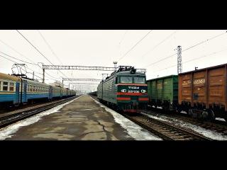 Електровоз ВЛ11м-133 резервом по станції Кривий Ріг-Головний (привітна лок.бригада)