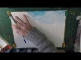 Watercolour tutorial - Summer shadows, cottages and flowers