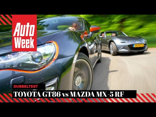 Mazda MX-5 RF vs Toyota GT86 - AutoWeek Dubbeltest