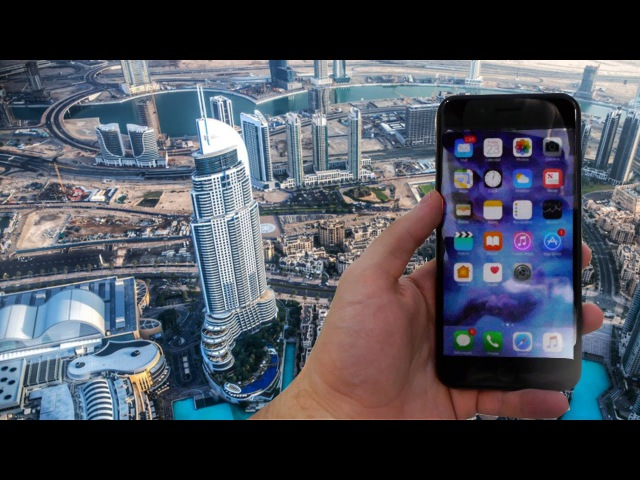 Dropping the iPhone 7 Plus From The Worlds Tallest Building (829 meters)