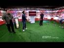 O chute do Zinho no meio do estúdio do Resenha ESPN