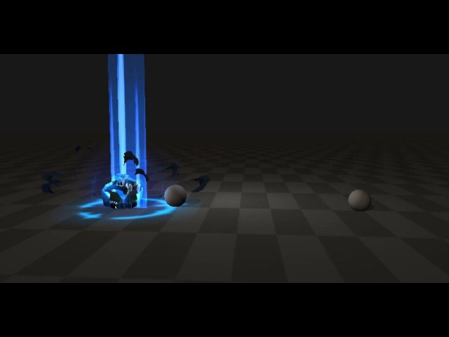 The second little practice, the combination of animation and some models