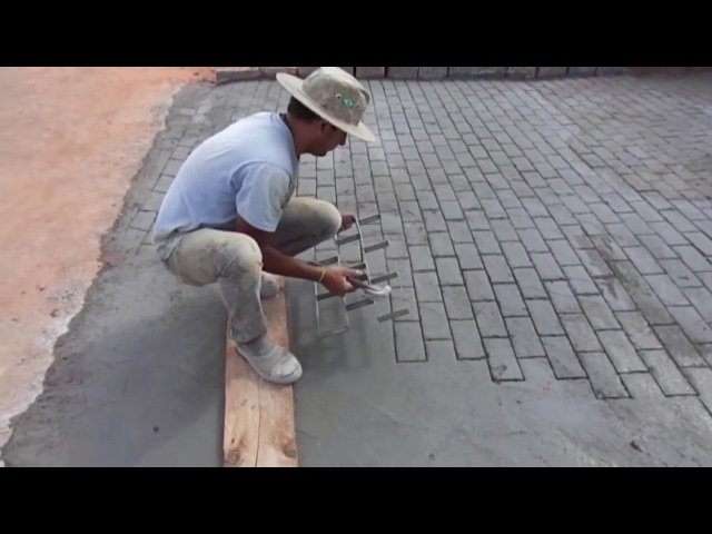 Idea for business imitation paving slabs