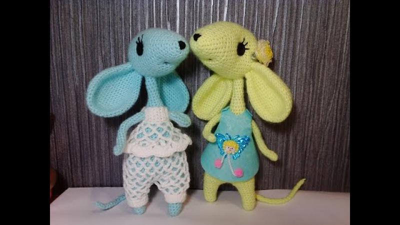 Мышонок ч 2 Mouse р 2 Игрушки крючком Crochet toys