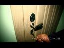 Установка входной металлической двери с зеркалом в квартиру