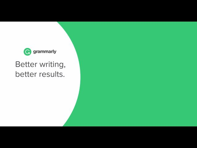 Better Writing with Grammarly
