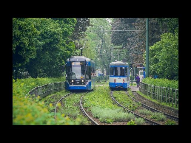 Путешествие в Европу. Трамваи в Кракове. Krakow trams 4k