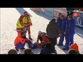 Emil Hegle Svendsen - collapse after the sprint - VM Hochfilzen 2017