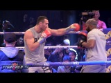 WHAT! KLITSCHKO THROWING 4 PUNCH COMBOS WSPEED AND POWER! IN MEDIA WORKOUT!