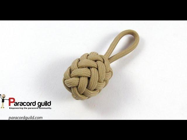 Herringbone knot paracord key fob