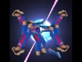 Luis Suarez Barcelona vs PSG Shooting Stars meme