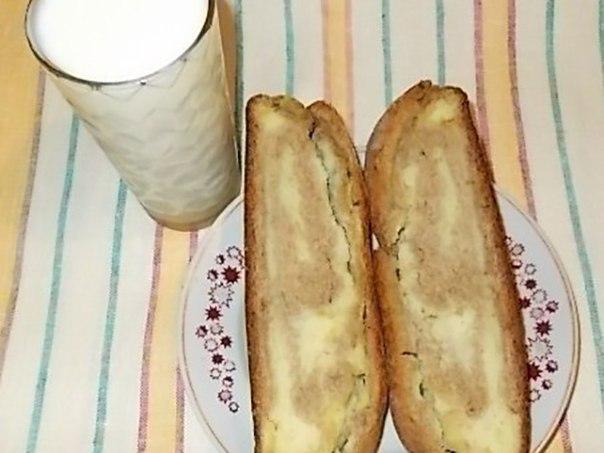 Выпечка Деревенского хлеба с начинкой