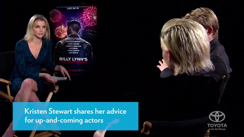 EW/People - Kristen Stewart Gives Advice to Co Star - Joe Alwyn