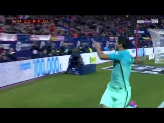 Атлетико 0:1 Барселона. Гениальный гол Суареса