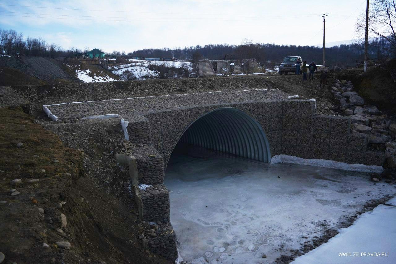В ауле Кобу-Баши реконструировали аварийный мост
