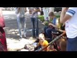 фантастическое выступление на улице, колорое принесло нам много вкусняшек