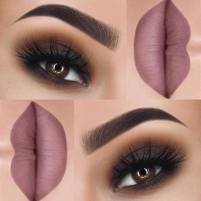 Скромный макияж для карих глаз 51