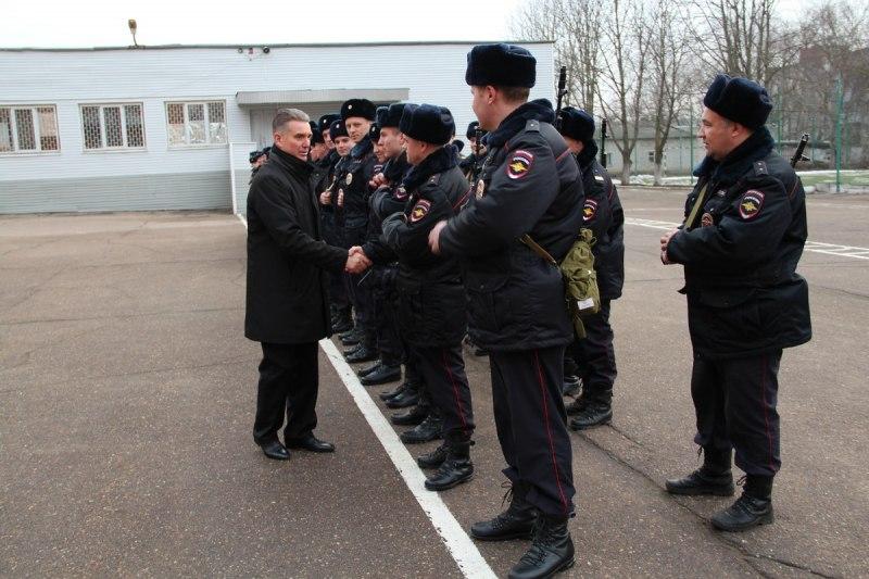Брянские полицейские направились вкомандировку наКавказ