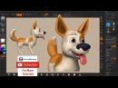 Zbrush Tutorial - Dog Character Creation Part03 - Refining