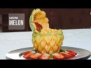 THAI ART IN MELON, HOW TO DO. - By J. Pereira Art Carving Fruits and Vegetables