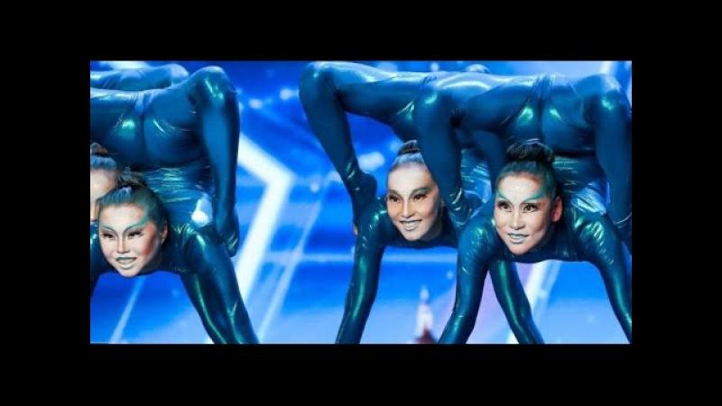 Engara Contortion Otherworldly Russian Girls WOW's BGT Auditions 4 Britain's Got Talent 2017