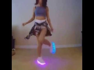 Sexy Girl Dancing with LED Shoes ✔