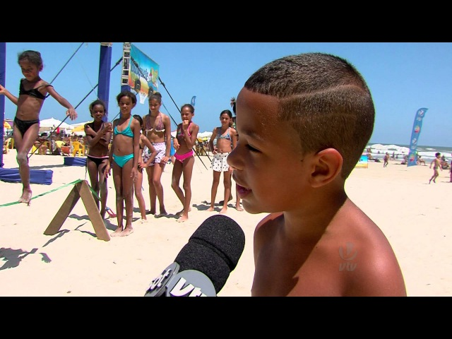 Arena 40° VTV agita praia da Enseada em Guarujá