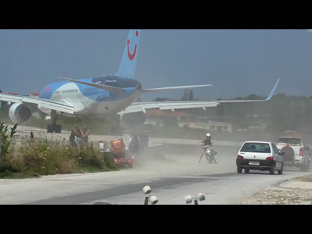 Skiathos. Dangerous Jet blast and low Landings.