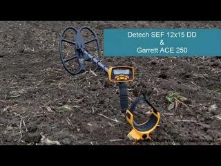 Garrett ACE 250 с катушкой Detech SEF 12x15 DD