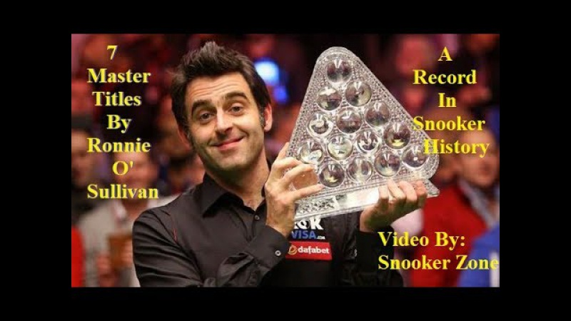 Run To 7 Master Titles | Ronnie O'Sullivan | Unforgettable Moments By The Rocket in Snooker