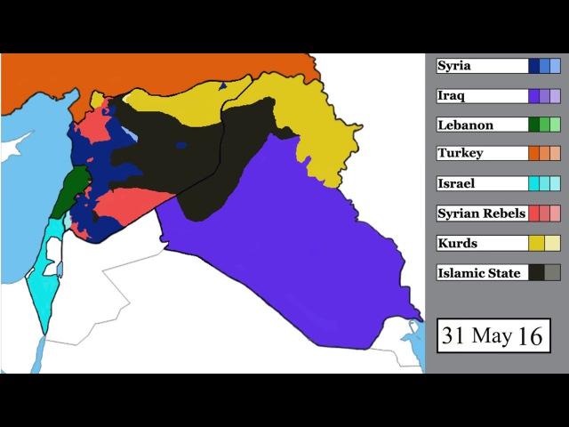Исламское государство, война в Сирии и в соседних странах: карта | 15 марта 2011 - 5 ян...