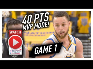 Stephen Curry UNREAL Game 1 Highlights vs Spurs 2017 Playoffs WCF - 40 Pts, 7 Reb, BEAST!