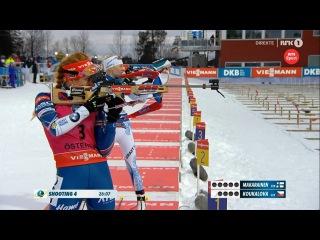 Габриэла Коукалова выигрывает женскую гонку преследования - Остерсунд 2016
