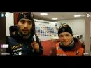 Östersund Single Mixed Relay winners on periscope Fourcade-Dorin Habert